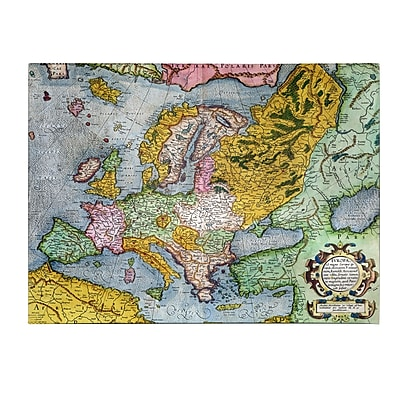 Trademark Fine Art Gerardus Mercator 'Europe In the 1590's' Canvas Art 14x19 Inches