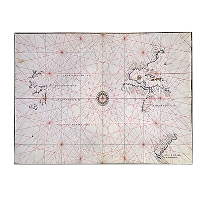 Trademark Fine Art Nautical Chart of the Pacific Ocean 1500's' Canvas Art 30x47 Inches