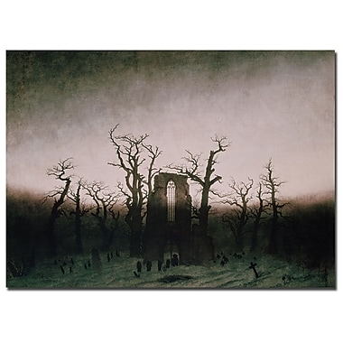 Trademark Fine Art Caspar Friedrich 'Abbey in Oakwood, 1810' Canvas Art