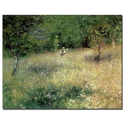 Trademark Fine Art Pierre Renoir 'Spring at Catou 1872-5' Canvas Art Ready to 14x19 Inches