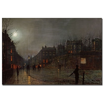Trademark Fine Art John Grimshaw 'Going Home at Dusk 1882' Canvas Art