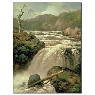Trademark Fine Art James Smith 'Waterfal on River Neath Wales' Cnavas Art