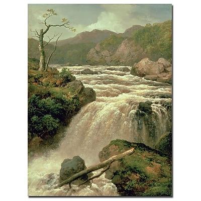 Trademark Fine Art James Smith 'Waterfal on River Neath Wales' Cnavas Art
