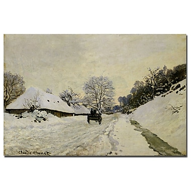 Trademark Fine Art JClaude Monet 'The Cart 1865' Canvas Art