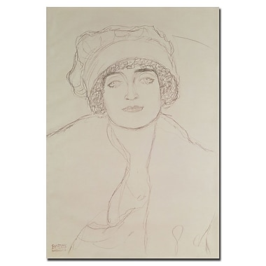 Trademark Fine Art Gustav Klimt 'Portrait of a Young Woman' Canvas Art