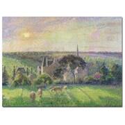 Trademark Fine Art Camille Pissarro 'The Church and Farm of Eragny 1895' Art