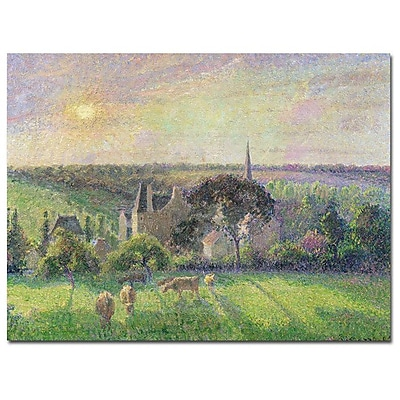 Trademark Fine Art Camille Pissarro 'The Church and Farm of Eragny 1895' Art