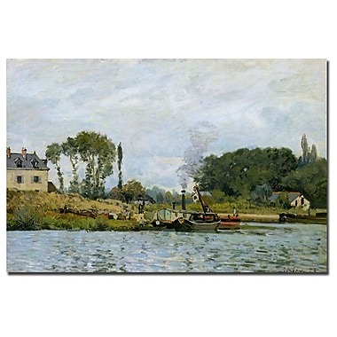 Trademark Fine Art Alfred Sisley 'Boats at Bougival 1873' Canvas Art 14x19 Inches