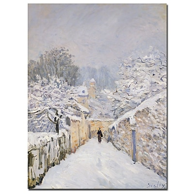 Trademark Fine Art Alfred Sisley 'Snow at Louveciennes 1878' Canvas Art