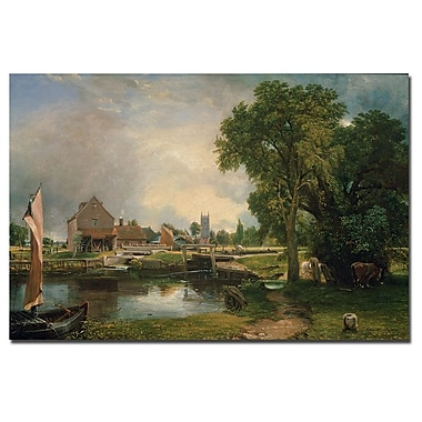 Trademark Fine Art John Constable 'Dedham Lock and Mill 1820' Canvas Art