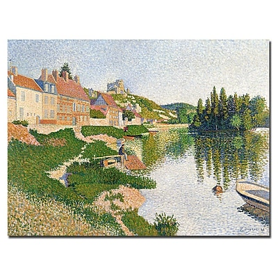 Trademark Fine Art Paul Signac 'River Bank, Petit-Andely, 1886' Canvas Art 18x24 Inches