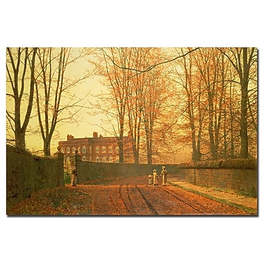 Trademark Fine Art John Grimshaw 'Going to Church 1880' Canvas Art 30x47 Inches