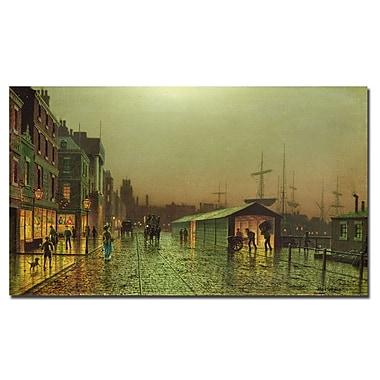 Trademark Fine Art John Grimshaw 'Liverpool Docks' Canvas Art 18x32 Inches