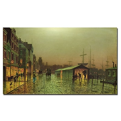 Trademark Fine Art John Grimshaw 'Liverpool Docks' Canvas Art 14x24 Inches