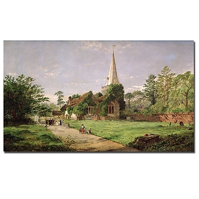 Trademark Fine Art Jasper Cropsey 'Stoke Poges Church' Canvas Art 14x24 Inches