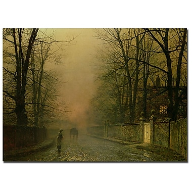 Trademark Fine Art John Grimshaw 'Where the paler moonbeams linger' Canvas Art