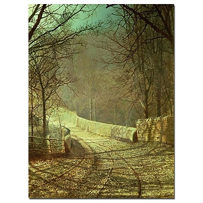 Trademark Fine Art Johannes Koekkoek 'Villge in Winter' Canvas Art