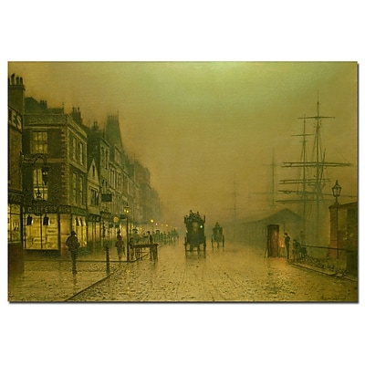 Trademark Fine Art John Grimshaw 'Liverpool Docks' Canvas Art 16x24 Inches