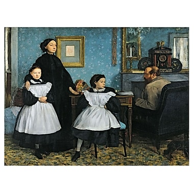 Trademark Fine Art Edgar Degas 'The Bellelli Family, 1858-67' Canvas Art
