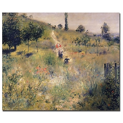 Trademark Fine Art Pierre Renoir 'The Path Through the Long Grass 1875' Canvas 14x19 Inches