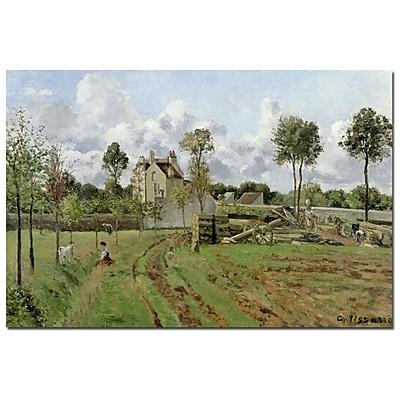 Trademark Fine Art Camille Pissarro 'Louveciennes, 1872' Canvas Art