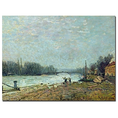 Trademark Fine Art Alfred Sisley 'The Thaw, 1880' Canvas Art 22x32 Inches