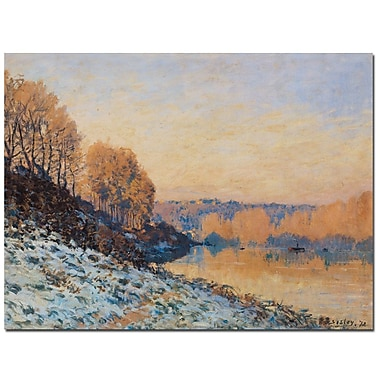 Trademark Fine Art Alfred Sisley 'Port-Marly, White Frost 1872' Canvas Art