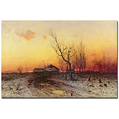 Trademark Fine Art Julius Klever 'Winter Landscape' Canvas Art
