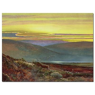 Trademark Fine Art John Grmishaw 'A Lake Landscape at Sunset' Canvas Art 14x19 Inches