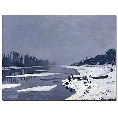 Trademark Fine Art Claude Monet 'Ice on Seine at Bougival, 1867-8' Canvas Art