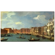 Trademark Fine Art Canaletto 'Canal of Santa Ciara, Venice' Canvas Art