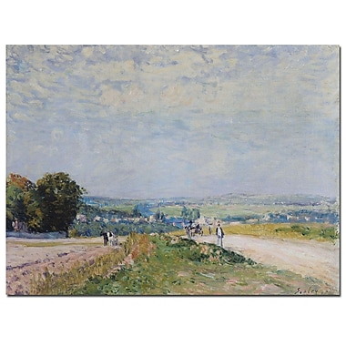 Trademark Fine Art Alfred Sisley 'Road to Montbuisson at Louveciennes' Canvas