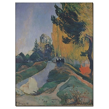 Trademark Fine Art Paul Gauguin 'The Alyscamp, Arles, 1888' Canvas Art 24x32 Inches