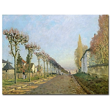 Trademark Fine Art Alfred Sisley 'Rue de la Machine, Louveciennes, 1873' Art