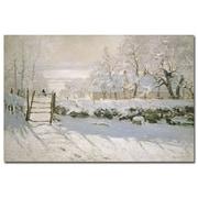 Trademark Fine Art Claude Monet 'The Magpie, 1869' Canvas Art