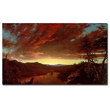 Trademark Fine Art Frederic Church 'Twilight in the Wilderness' Canvas Art 18x32 Inches