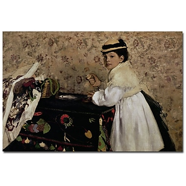 Trademark Fine Art Edgar Degas 'Portrait of Miss Valpincon, 1869' Canvas Art