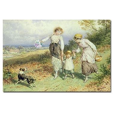 Trademark Fine Art Myles Foster 'Returning from the Village' Canvas Art