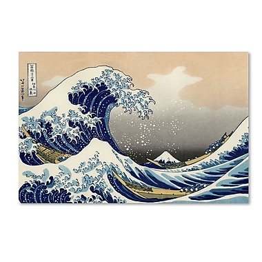 Trademark Fine Art Katsushika Hokusai 'The Great Kanagawa Wave' Canvas Art