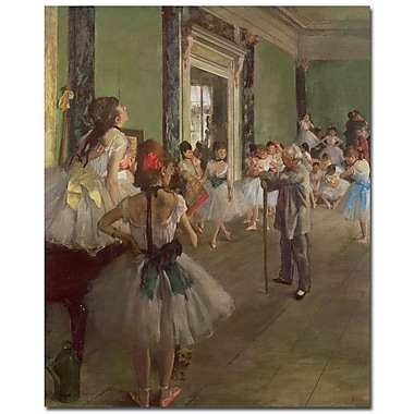 Trademark Fine Art Edgar Degas 'The Dancing Class 1873' Canvas Art 35x47 Inches