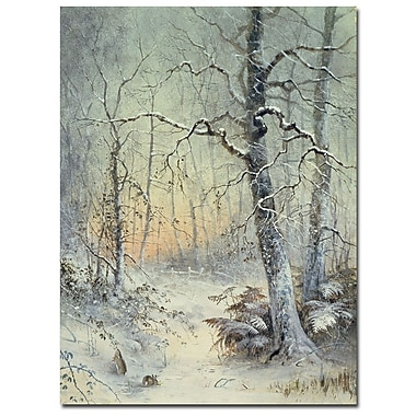 Trademark Fine Art Joseph Farquharson'Winter Breakfast' Canvas Art
