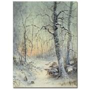 Trademark Fine Art Joseph Farquharson'Winter Breakfast' Canvas Art
