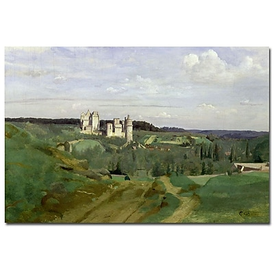 Trademark Fine Art Jean Baptiste Corot 'View of Chateau de Pierrefonds, 1840'
