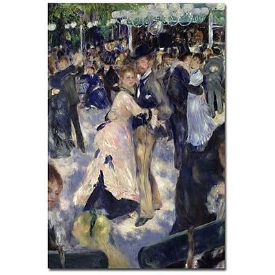 Trademark Fine Art Pierre-Auguste Renoir 'Le Moulin de la Galette' Canvas Art 14x19 Inches