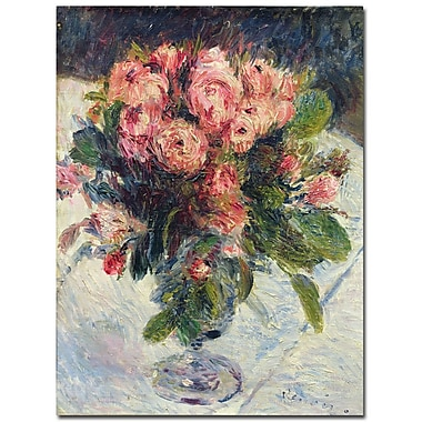 Trademark Fine Art Pierre-Auguste Renoir 'Moss-Roses, 1890' Canvas Art 35x47 Inches