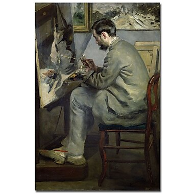 Trademark Fine Art Pierre Renoir, 'Frederic Barille at his Easel, 1867' Canvas 16x24 Inches