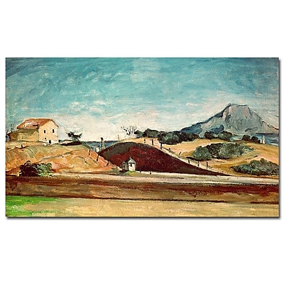 Trademark Fine Art Paul Cezanne, 'The Railway Cutting, 1870' Canvas Art 14x24 Inches