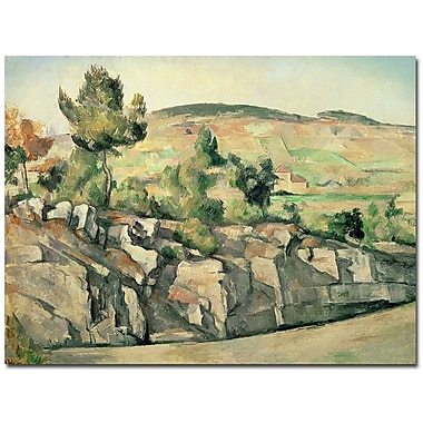 Trademark Fine Art Paul Cezanne 'Hillside in Provence 1886' Canvas Art