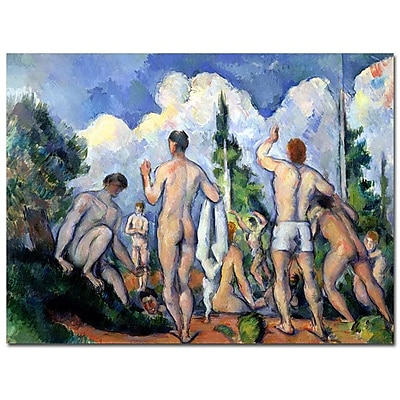 Trademark Fine Art Paul Cezanne 'The Bathers 1890' Canvas Art 35x47 Inches
