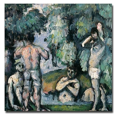 Trademark Fine Art Paul Cezanne, 'The Five Bathers' Canvas Art 24x24 Inches